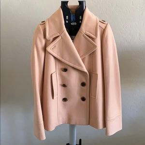 J Crew Wool Coat, Size 6 tall, dusty peachy color